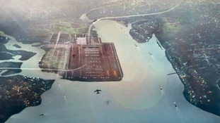 Lord Foster outlined plans for the Thames estuary airport Credit: Foster & Partners
