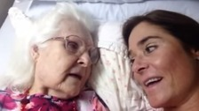 The moment an Alzheimer's patient recognises daughter