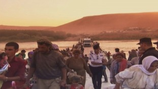 Many families have been displaced in northern Iraq as they flee from fighting.