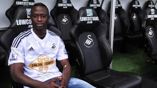 Modou Barrow signs for Swansea City