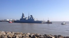 HMS Duncan arrives in Cardiff for NATO summit