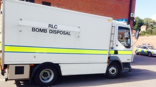 Bomb disposal van