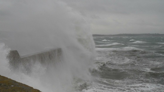 waves at Penzance