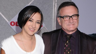 Zelda Williams and her father Robin Williams pictured in November 2009.
