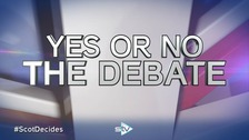 Tonight's debate is the third live Scottish Referendum Debate
