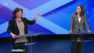 Elaine C Smith (L) and Kezia Dugdale battle it out