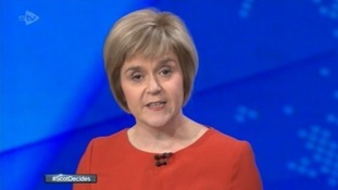 Deputy First Minister Nicola Sturgeon taking part in the debate.