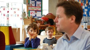 Nick Clegg is pledging to expand free nursery care to all two-year-olds.
