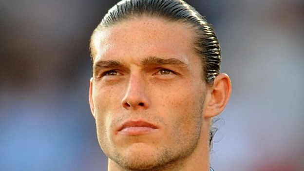 England player Andy Carroll.