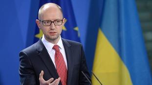 Prime Minister of Ukraine Arseniy Yatsenyuk.
