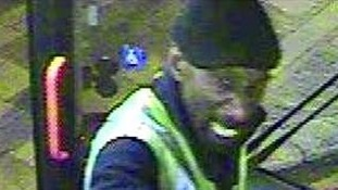 The suspect is described as a black man aged 40-45 years old, wearing a flat cap, dark jeans and a jacket.