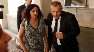Ashya King's mother Naghmeh pictured with the family's lawyer.