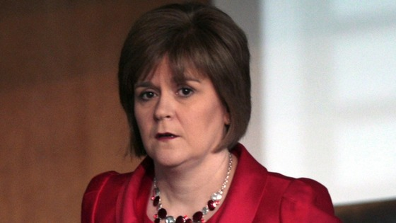 Scottish Health Secretary Nicola Sturgeon.