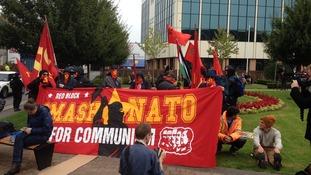 Newport protest