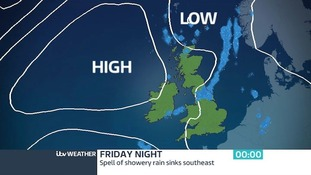 By midnight Friday - Spell of rain sinks southeast
