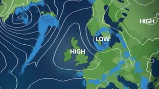 Into next week - High pressure builds back in to bring another settled week (Tuesday's chart)