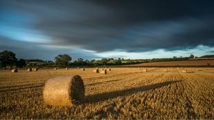 Stormy clouds in Maxstoke, Warwickshire