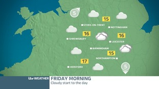 Midland's weather map for Friday morning
