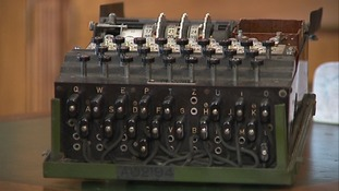 The World War Two Enigma code-breaking machine.