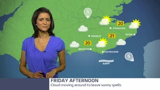 Meridian East: Friday forecast - Grey start brighter later