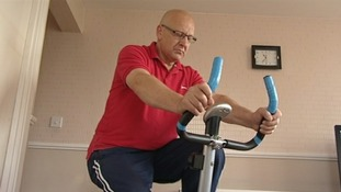 David Click on exercise bike