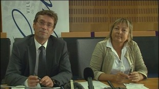 Calais' deputy mayor Philippe Mignonet with mayor Natacha Bouchart.