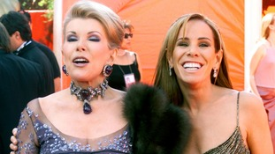 Joan Rivers with her daughter Melissa in 2000.
