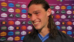 England striker Andy Carroll.