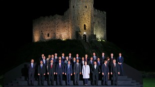 Nato members pose for 'family photo'