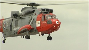 rescue helicopter from RNAS Culdrose (screengrab)