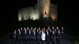 Nato leaders Cardiff Castle