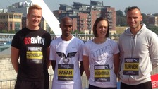 Greg Rutherford, Mo Farah, Laura Weightman and Andy Turner