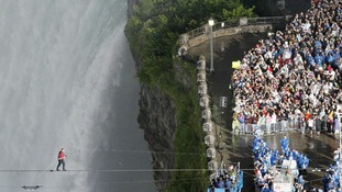 Thousands gathered to watch Wallenda's historic walk.