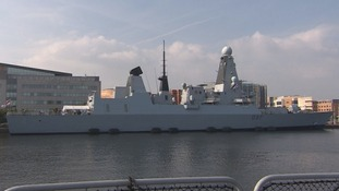 HMS Duncan in Cardiff Bay