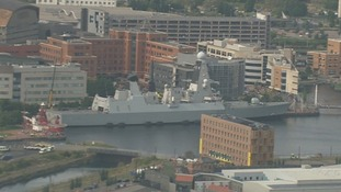HMS Duncan in Cardiff Bay