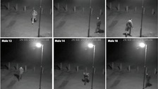 CCTV images of six mystery men Essex Police would like to trace.