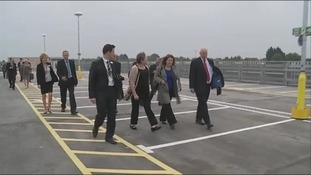 Dignitaries at opening of Bristol Parkway station's car park