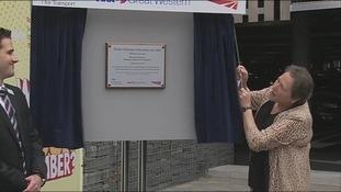 Baroness Kramer unveils plaque at Bristol Parkway car park