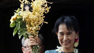 Burmese opposition leader Aung San Suu Kyi is to speak in Oslo today.