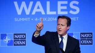 David Cameron announced 1,000 British troops would join a Nato readiness force.