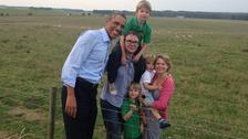 Barack Obama visits Stonehenge.