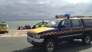 Emergency vehicles in Rhos on Sea