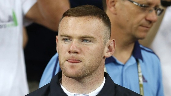 Wayne Rooney watches England beat Sweden in Kiev
