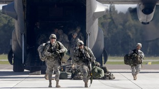 U.S.173 airborne brigade soldiers arrive  in Latvia
