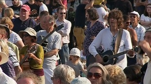 Thousands attended the event in Lyme Regis