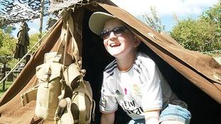 Boy in tent