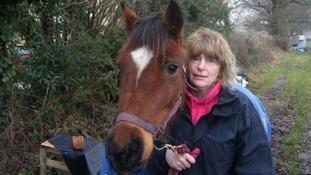 Pennie Davis with her horse.