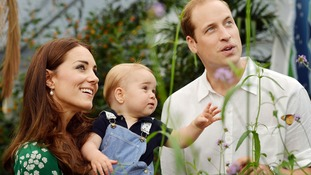 Photo released to mark Prince George's first birthday.