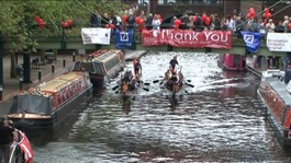Dragonboats on the Fazeley Canal