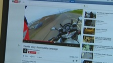 More than nine million people have viewed controversial footage of the death of a motor cyclist in Norfolk.